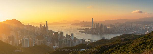 Hong Kong Island and Kowloon skylines, Hong Kong