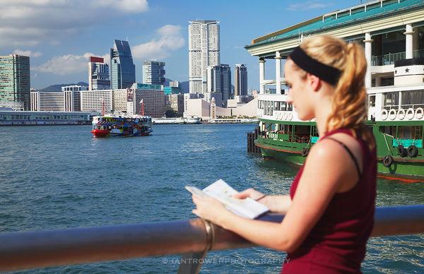 Woman at Victoria Harbour, Hong Kong