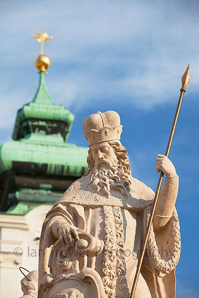 Statue on Trinity Column, Gyor