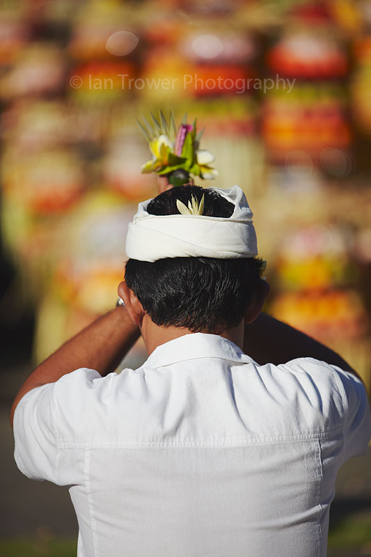 Prayers at ceremony, Bali
