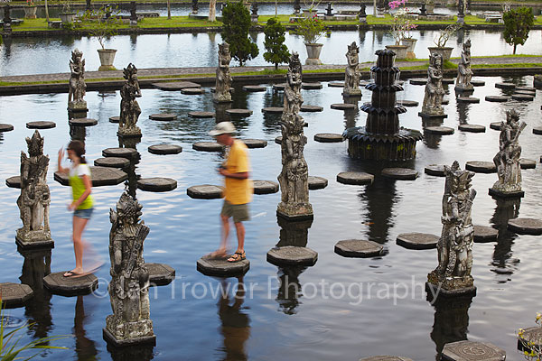 Stepping stones at Tirta Gangga, Bali