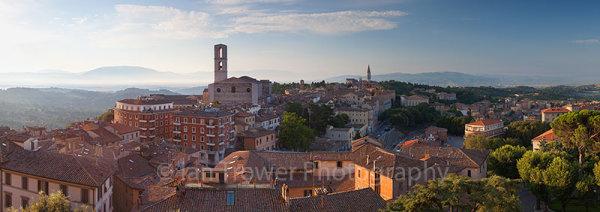 Perugia at dawn, Umbria, Italy