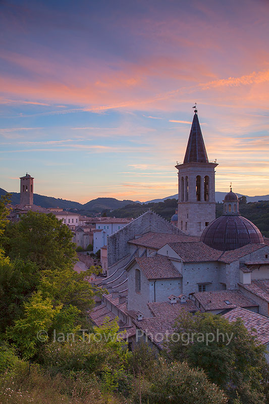 Cathedral at sunset, Spoleto, Umbria