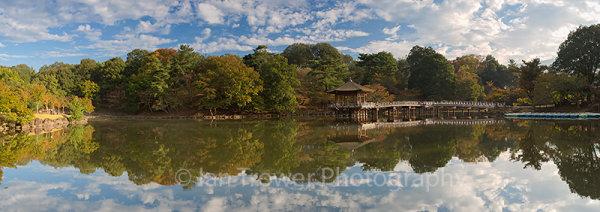 Ukimido pavilion in Nara Park at dawn, Nara