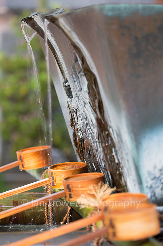 Water ladles at Kushida Shrine, Fukuoka