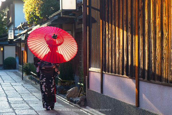 Woman in kimono, Kyoto, Japan