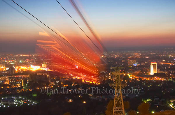 Cable Car Blur, Almaty