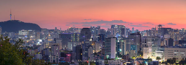 Seoul skyline at sunset, South Korea