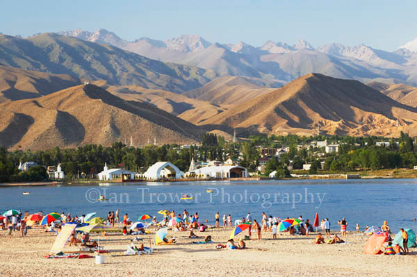 Sunbathers, Lake Issyk-Kul
