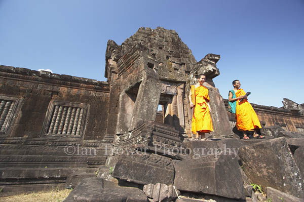 Monks, Wat Phu, Champasak