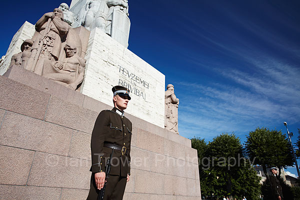 Soldiers At Freedom Monument, Riga