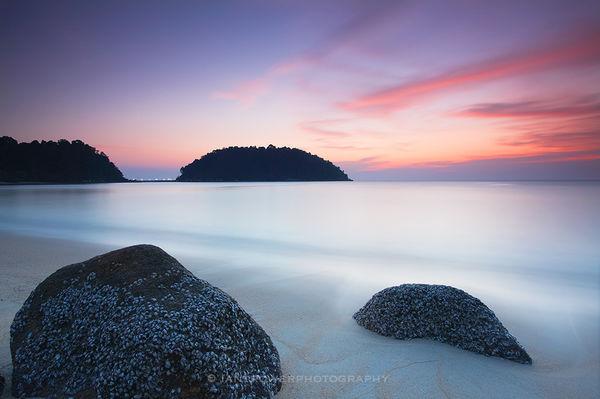 Beach at sunset, Pangkor Island, Malaysia