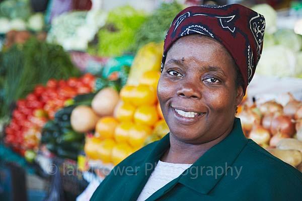 Vegetable seller, Maputo