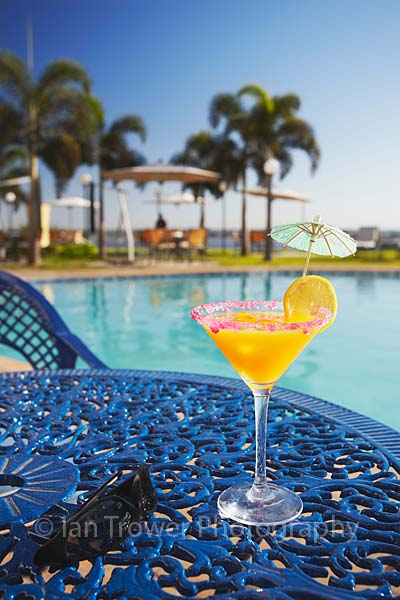 Cocktail poolside at Hotel Cardoso, Maputo