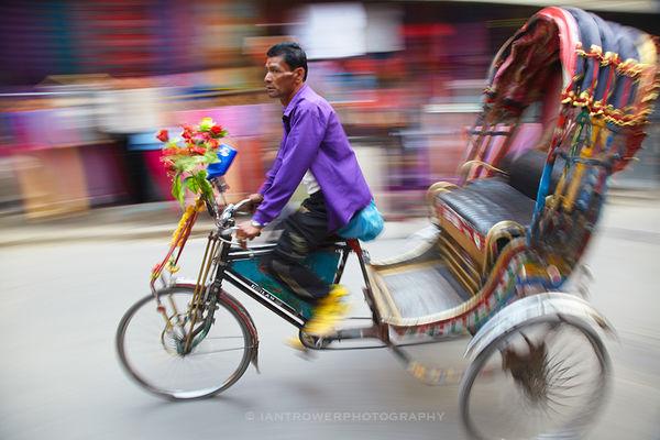 Rickshaw driver, Kathmandu, Nepal