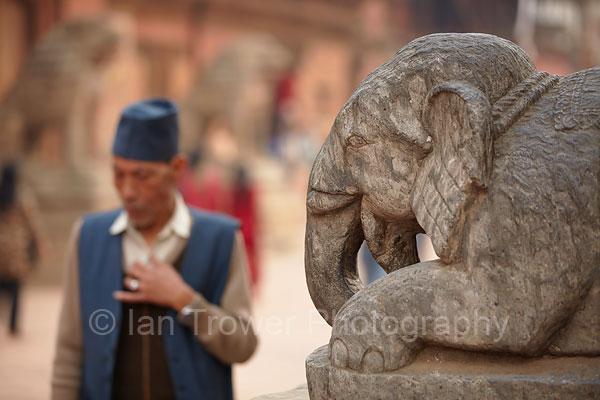 Elephant statue, Durbar Square, Patan