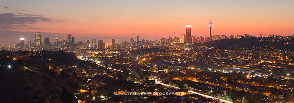 Johannesburg at sunset, South Africa