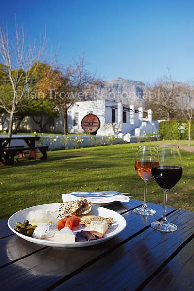 Wine and cheese, Blaauwklippen Wine Estate, Stellenbosch