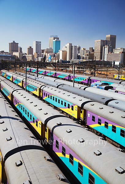 Trains at Park Station, Johannesburg