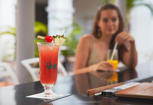 Woman at Raffles Hotel bar, Singapore