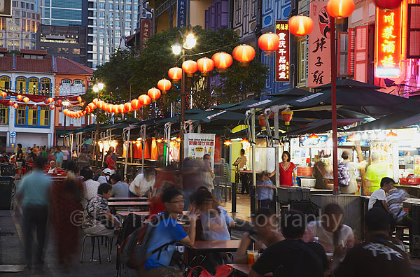 Chinatown at dusk