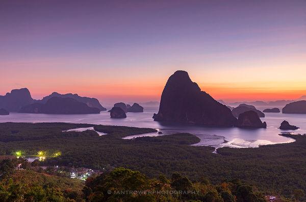Ao Phang Nga National Park at dawn, Thailand