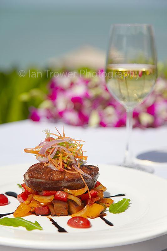 Grilled duck at Melati Beach Resort and Spa, Ko Samui, Thailand