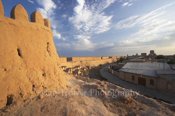 Dawn Over City Walls, Khiva