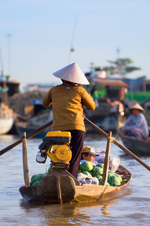 Floating market, Can Tho, Vietnam