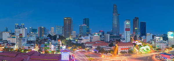 Ho Chi Minh City at dusk, Vietnam
