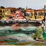 Chania harbour, Crete, Greece