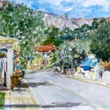 Golden Beach Road, Thassos, Greece