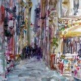 Naples street, Italy