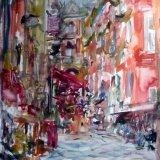 Duomo Street scene, Naples, Italy