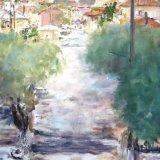 Road from Vigli restaurant, Golden Beach, Thassos, Greece