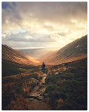 HC. Wanderer above Glen Rosa, Isle of Arran