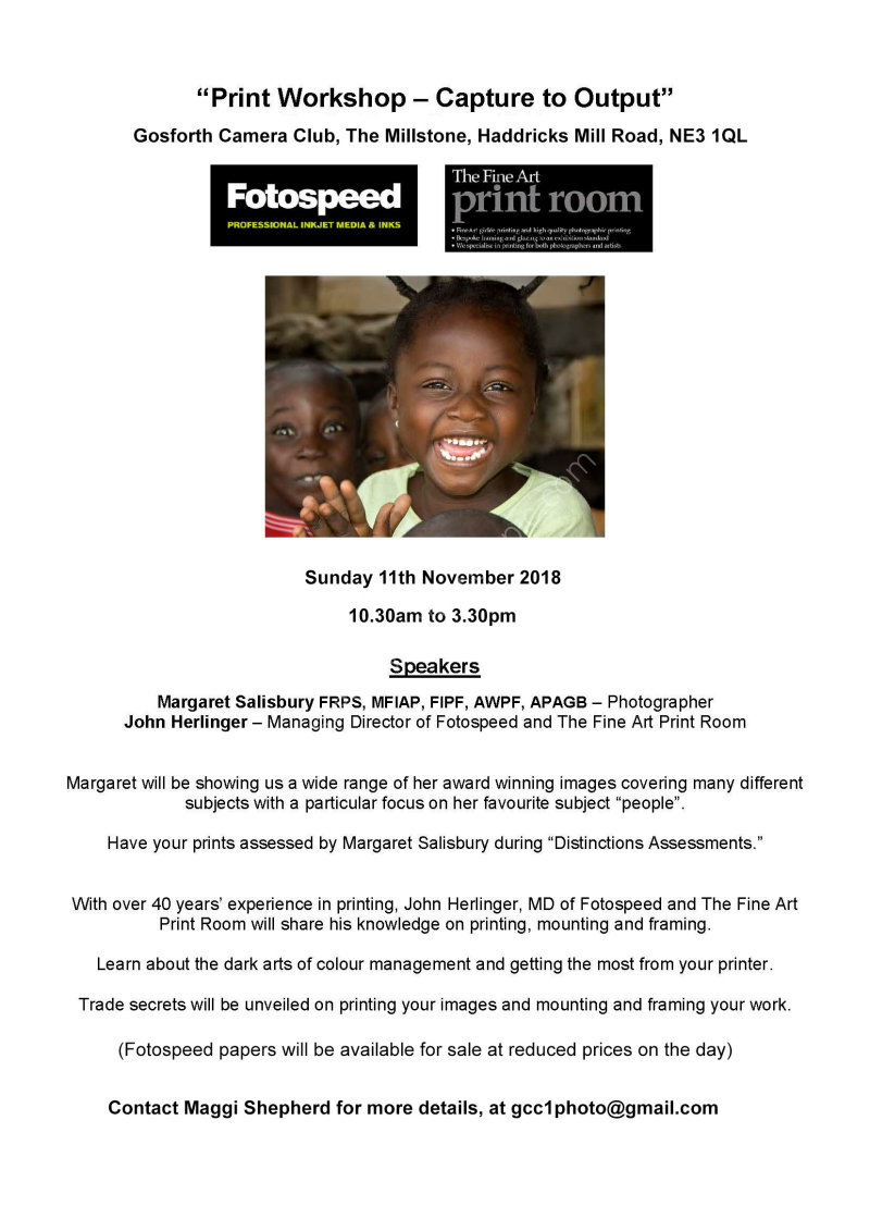 Fotospeed Print Day flyer