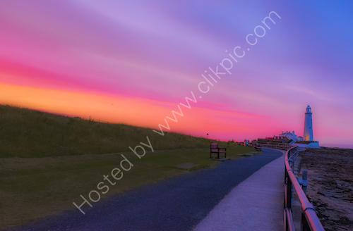 St Mary's sunset