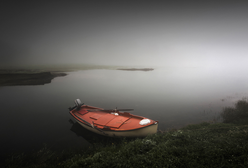 Boat in the mist