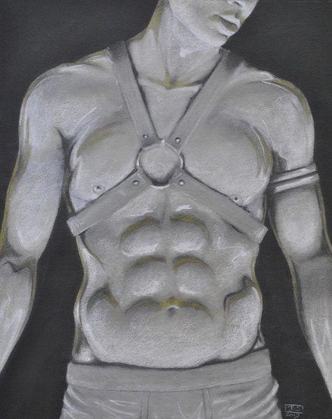 Chrome Figure In Harness