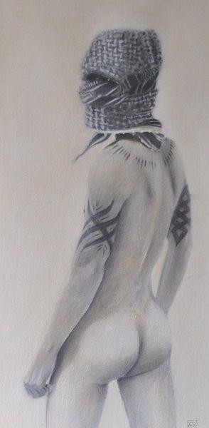 Boy With Tattoos Wearing A Keffiyeh