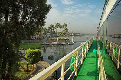 Berthed on the Nile