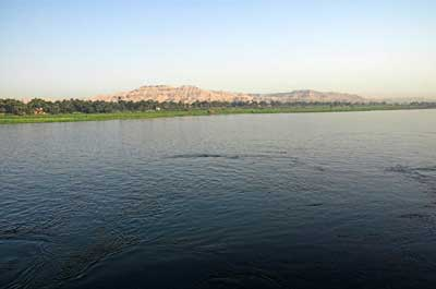 Across the Nile to the west bank