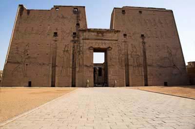 Edfu temple main pylon gateway