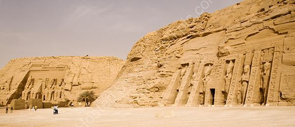 The cliff temples of Abu Simbel