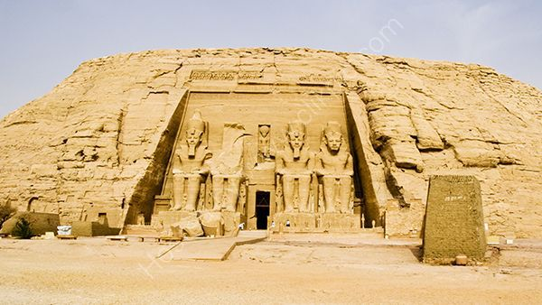 The famous rock cut temple of Abu Simbel