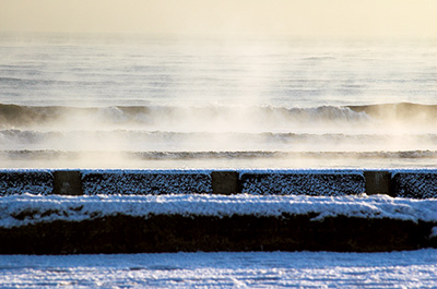 Steaming Sea in Winter