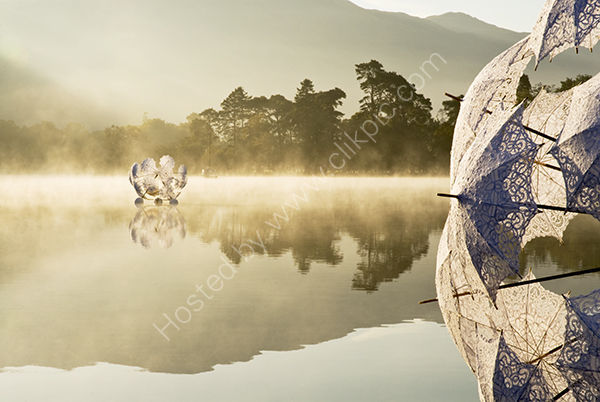 Modern art on misty Ullswater