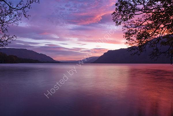 Red and Purple skies at Lake Ullswater