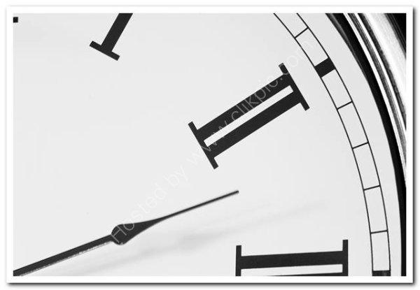Clock Face Detail in Monochrome